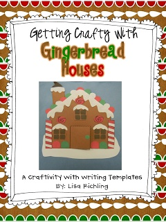 $ Gingerbread House Craft and Writing Templates: K-4th