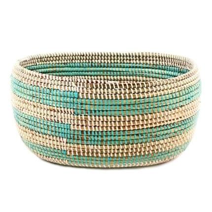 Small Knitting Basket - Aqua