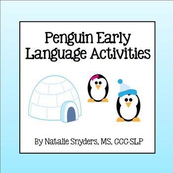 Adorable penguin themed language activities for preschool and kindergarten students!
