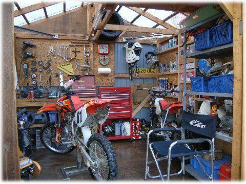 dirtbike motorcycle garage bikes stuff pinterest motorcycle garage. Black Bedroom Furniture Sets. Home Design Ideas