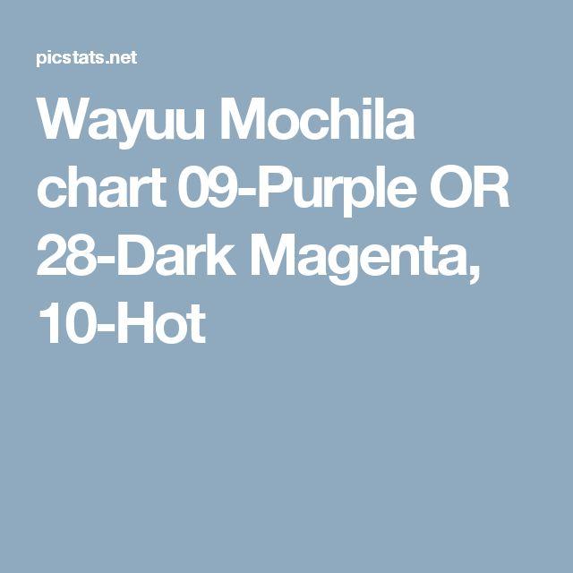 Wayuu Mochila chart   09-Purple OR 28-Dark Magenta, 10-Hot