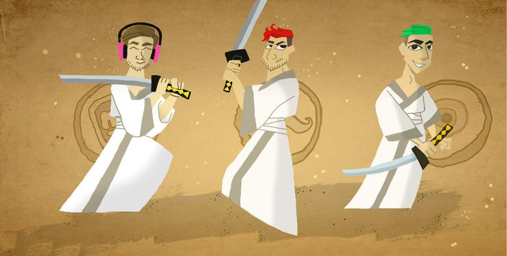 Samurai Youtuber by Ccjay25.deviantart.com on @DeviantArt