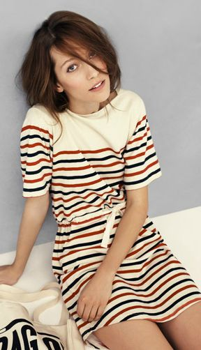 This madewell dress would look so cute with keds!