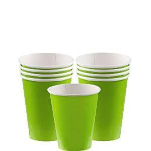 Lime grøn kopper. Stort udvalg af lime grøn engangsservice.