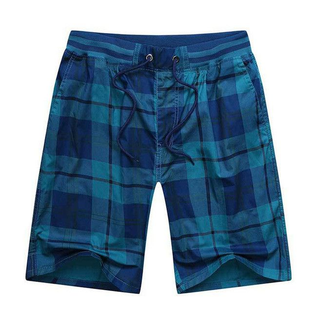 Colorful Fashion Plaid Cotton Casual Men's Shorts XL-4XL 3 Colors