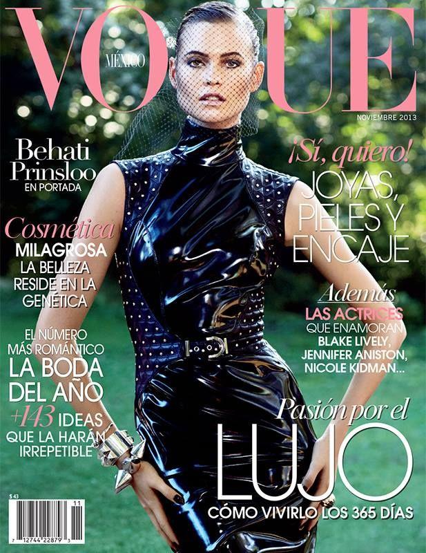 Behati Prinsloo Covers Vogue Mexico November 2013 in Versace