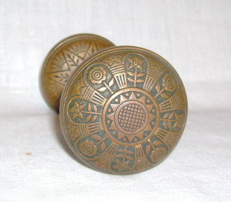 antique vintage brass door knob doorknob decorative victorian punk garden art