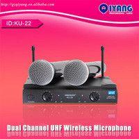 30M Disctance 2 Metal Handhelds Mic Professional UHF Wireless Microphone sem fio System Consumer Electronics KU-22A