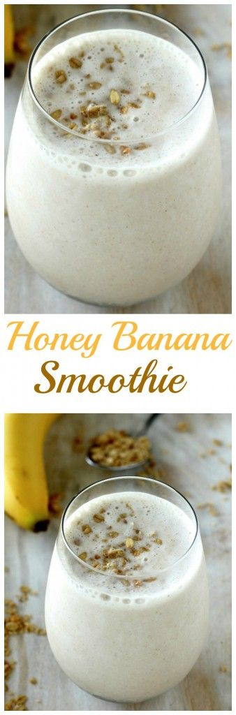 The BEST Honey and Banana Smoothie is ready in just minutes!