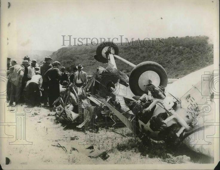 1929 Press Photo Tri motor Maddux plane crash near San Diego, Calif