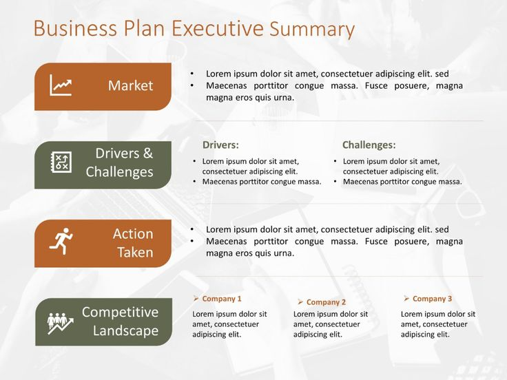Business Plan Executive Summary Template in 2020
