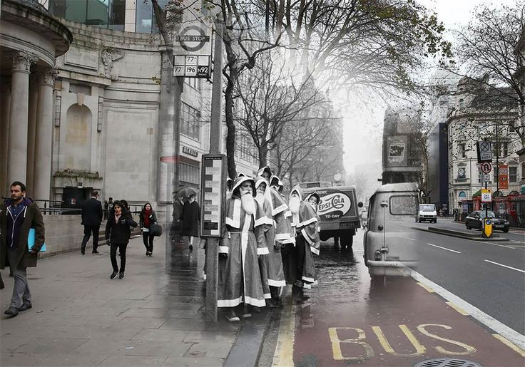 Amazing Then And Now Photos Merge London's Ghosts Of Christmas Past