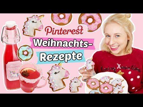 Pinterest REZEPTE für WEIHNACHTEN Einhorn LEBKUCHEN backen & PUNSCH selber machen - YouTube