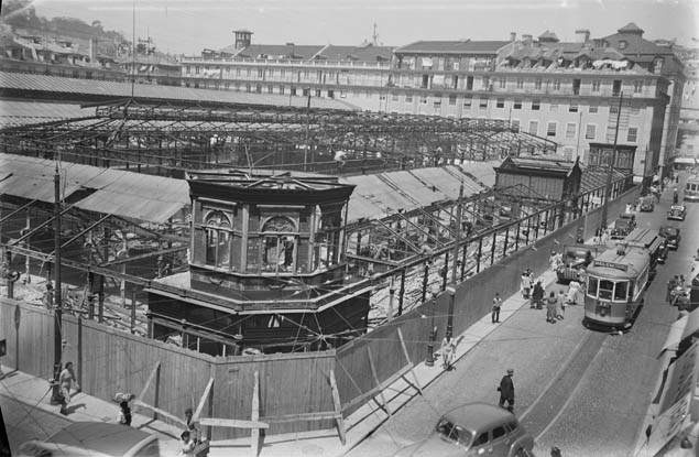 Demolição Mercado da Praça da Figueira, 1949