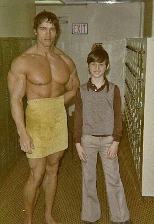 Arnold and friend | herculean men of yesteryear ...