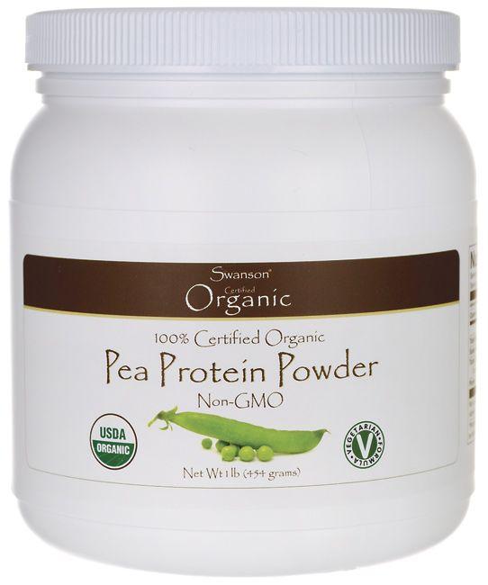 Swanson Organic 100% Certified Organic Pea Protein Powder Non-GMO 1 lb (454 grams) Pwdr - Swanson Health Products