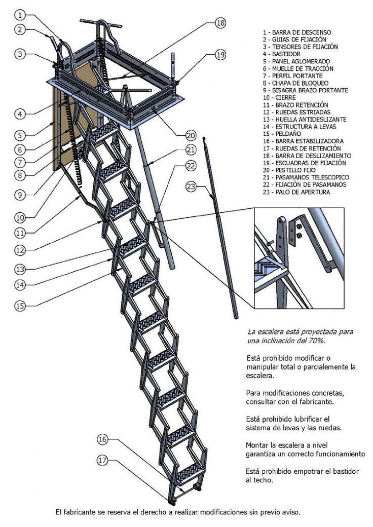 17 mejores ideas sobre escaleras plegables en pinterest - Escaleras metalicas plegables ...