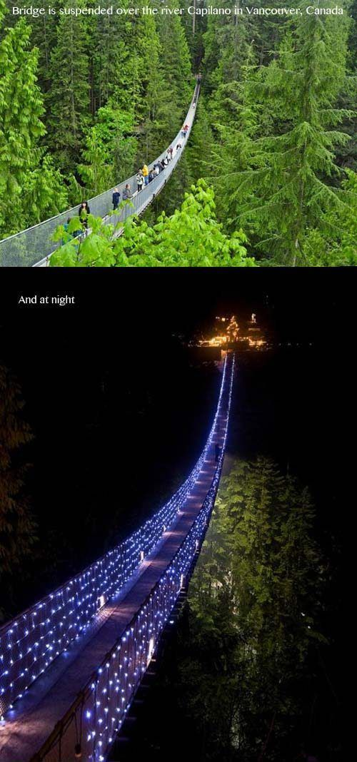 Vancouver, Canada - super scary, but I might consider doing it at night with all the lights!!