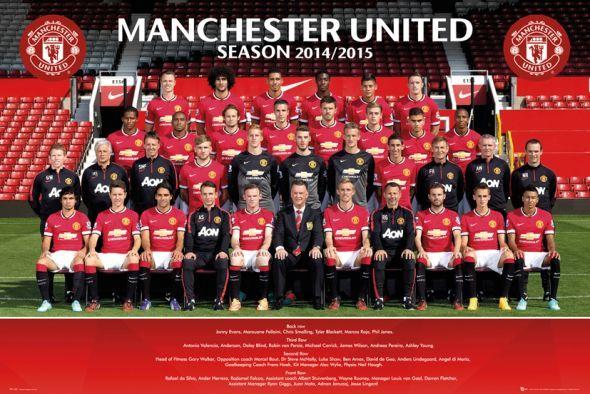 Manchester United Zdjęcie Drużynowe 14/15 - plakat - 91,5x61 cm  Gdzie kupić? www.eplakaty.pl