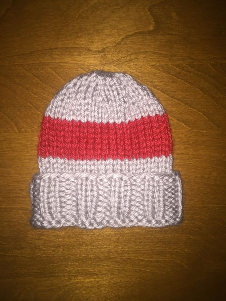 Cuffed Children's Knitted Hat by KnittedGoodsByAlayna on Etsy