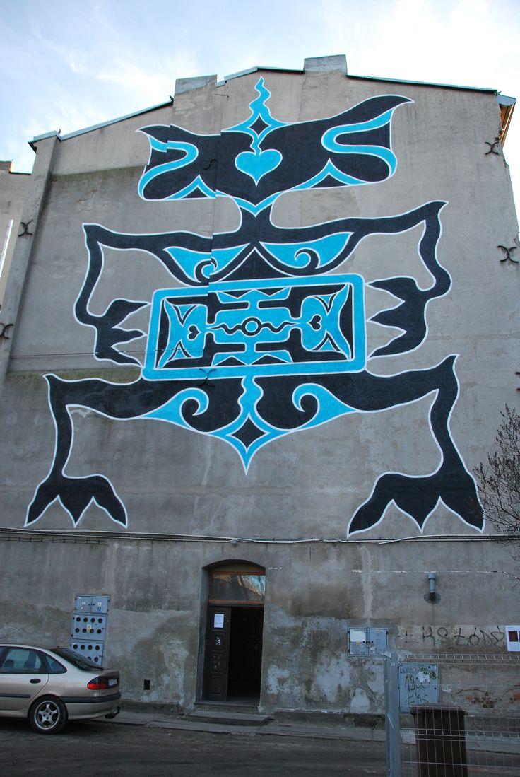 Poland, Lodz mural street art