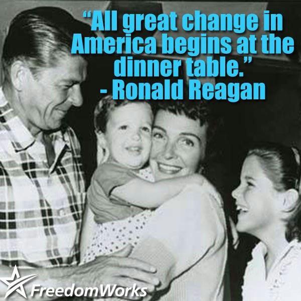 PRESIDENT Ronald Reagan 'Family values'