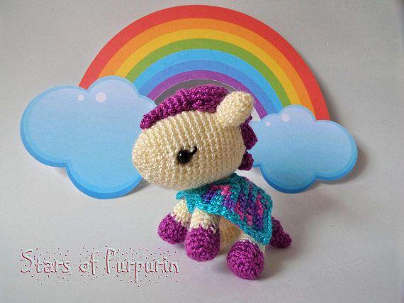 Rainbow Pony  Pequeño Pony  Pony Arcoiris Fantasía