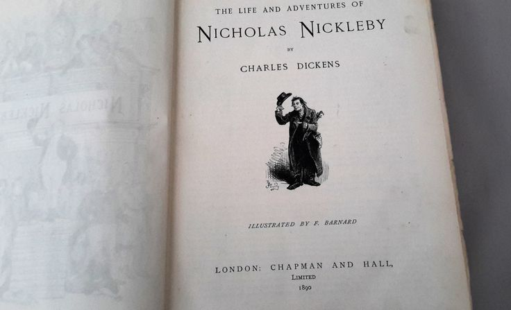 Nicholas Nickleby by Charles Dickens, Illustrated First Edition 1890, Chapman and Hall Ltd. London. Antique Book. by NanaBarbarastreasure on Etsy
