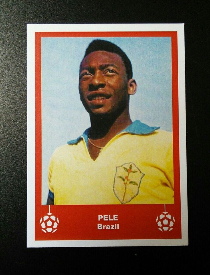 Pele Brazil Santos - pp cards -  football trade card / birthday card