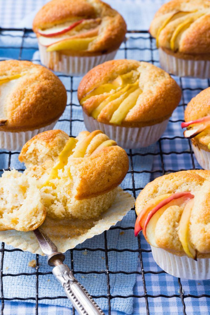 Beautiful apple muffins made in less than 20 minutes! They are so yummy | Thermomix Baking Blogger