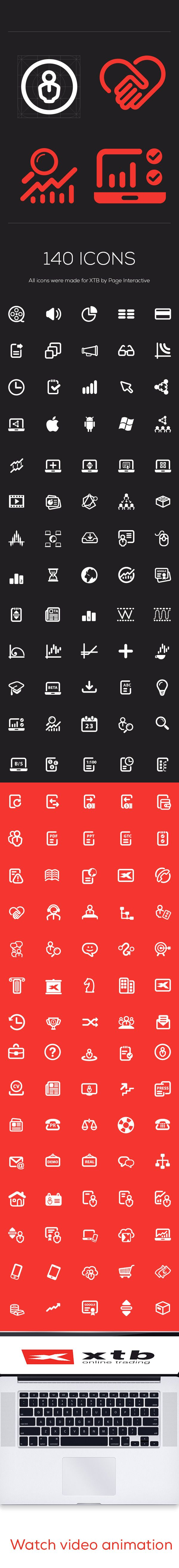 XTB - 140 icon set by PAGE Interactive Sp.j., via Behance