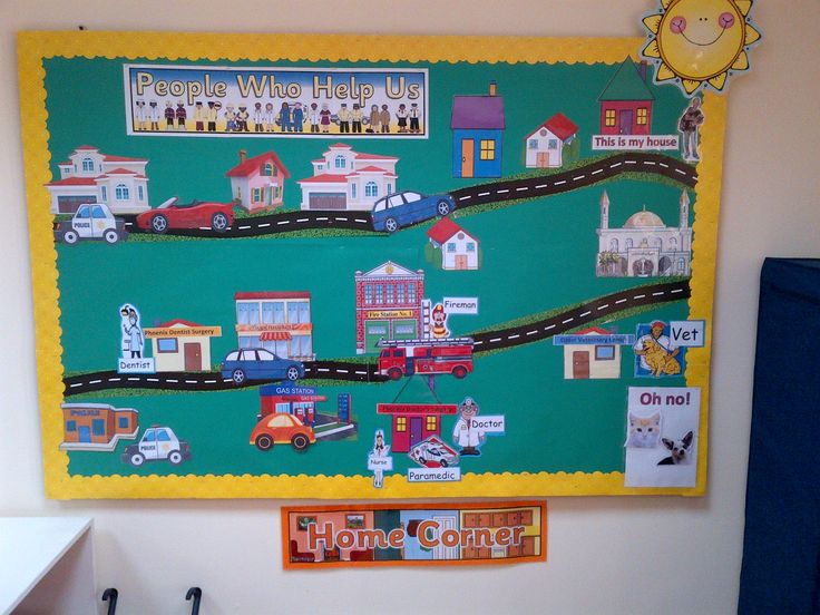 KS - People Who Help Us display. Chn move the emergency vehicles or people to the correct scene. This is one of my favourites as the teacher can change scenario regularly.
