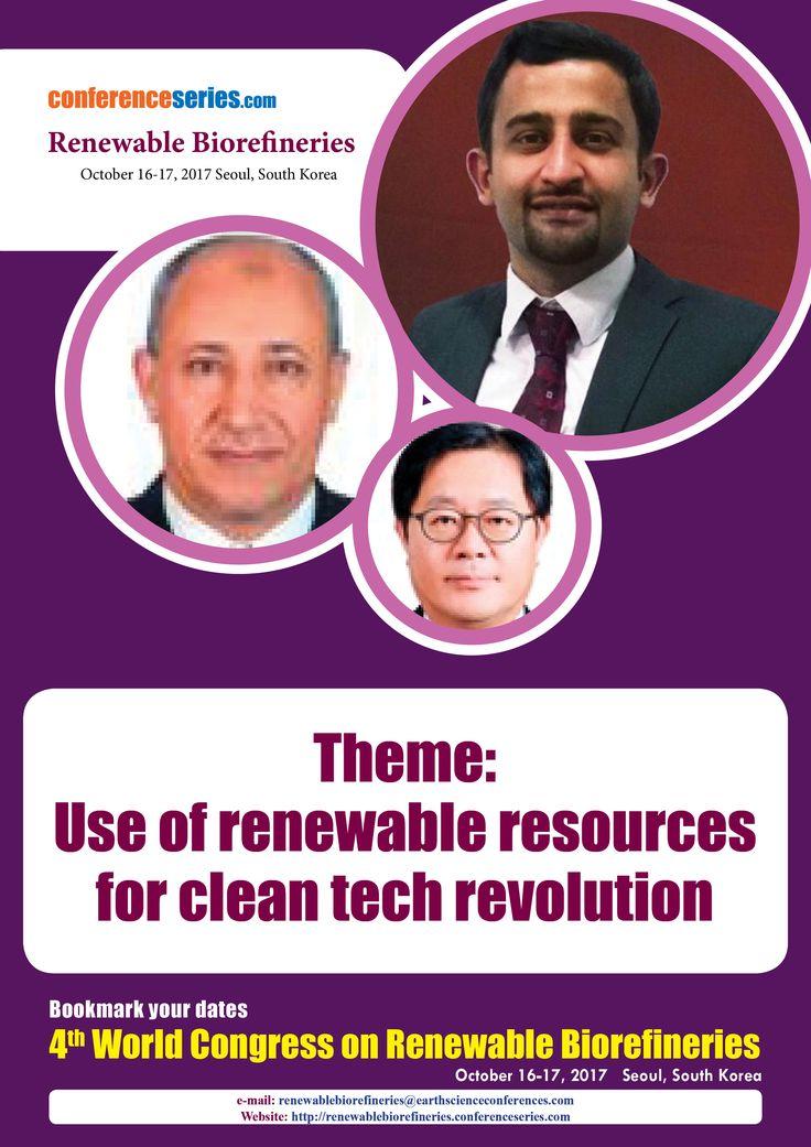 4th World Congress on #Renewable_Biorefineries October 16-17, 2017 Seoul, South Korea