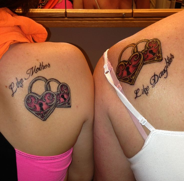 Cute Mother Daughter Affectionate Tattoos: 17 Best Images About Mother & Daughter Tattoos On