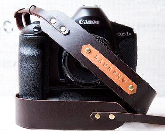 Custom Camera Strap DSLR camera strap Monogram camera by viveo