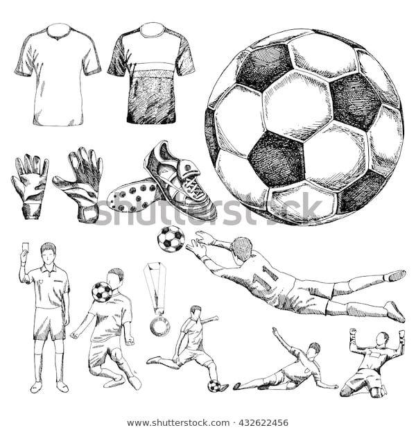 Descubra Design Elements Soccer Doodle Illustration Eps10 Imagenes De Stock En Hd Y Millones De Otra Poses De Futbol Dibujos De Futbol Balones De Futbol Dibujo
