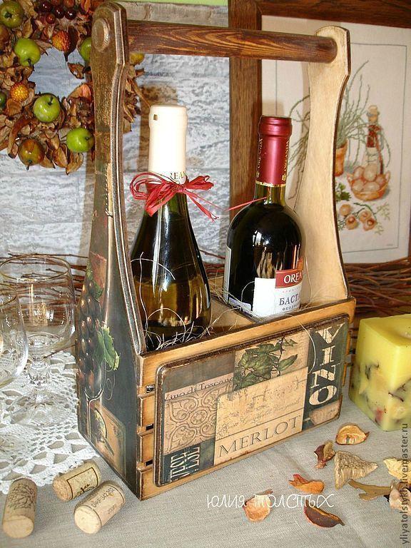 """Купить Короб для вина """"Тоскана"""" - короб для вина, винный короб, для вина, подарок мужчине"""