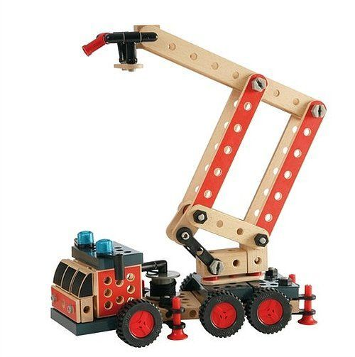 Brio Fire Truck Builder BRI-34566 You build – you play! This exciting wooden Fire Engine is full of detailed functions such as levitating platform support hose and a crane. This is as fun to build as it is to play with. Follow the ins http://www.MightGet.com/january-2017-12/brio-fire-truck-builder-bri-34566.asp