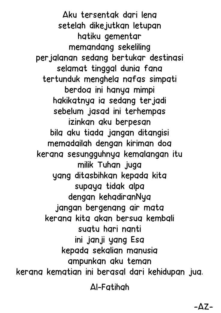 Malay mh17 poem sedih