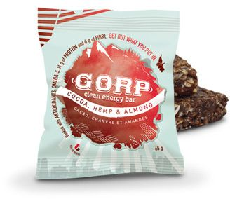 Innotech is a PROUD Distributor of GORP bars these are all natural clean energy bars, here is the COCOA ALMOND HEMP YUMMMM