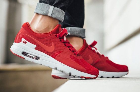 http://SneakersCartel.com Gym Red Colors The Latest Nike Air Max Zero #sneakers #shoes #kicks #jordan #lebron #nba #nike #adidas #reebok #airjordan #sneakerhead #fashion #sneakerscartel