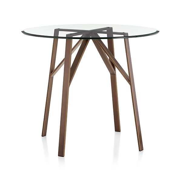 """Belden High Dining Table with 42"""" Glass Top  