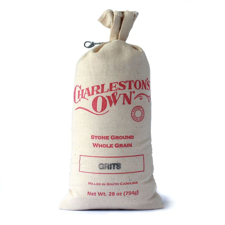 Stone Ground Grits, Charleston's Own 28 oz Cloth Bag - Charleston Specialty Foods