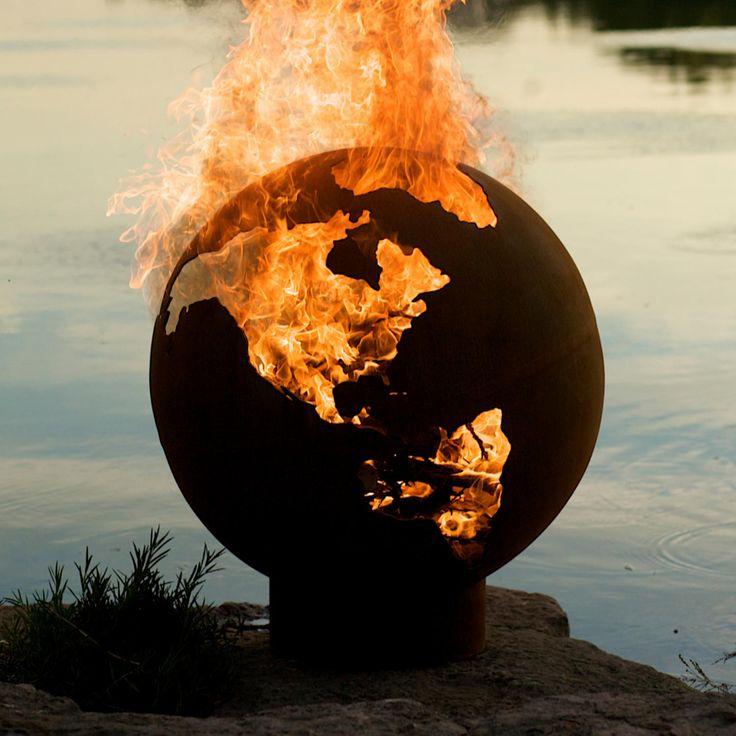 Fire Pit Art Third Rock 36-Inch Wood Burning Fire Pit : BBQ Guys