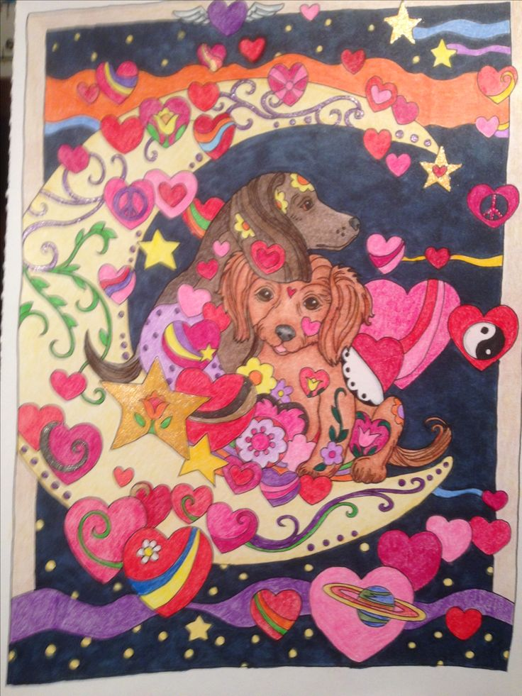 From Dazzling Dogs Coloring BooksHobbiesWalls