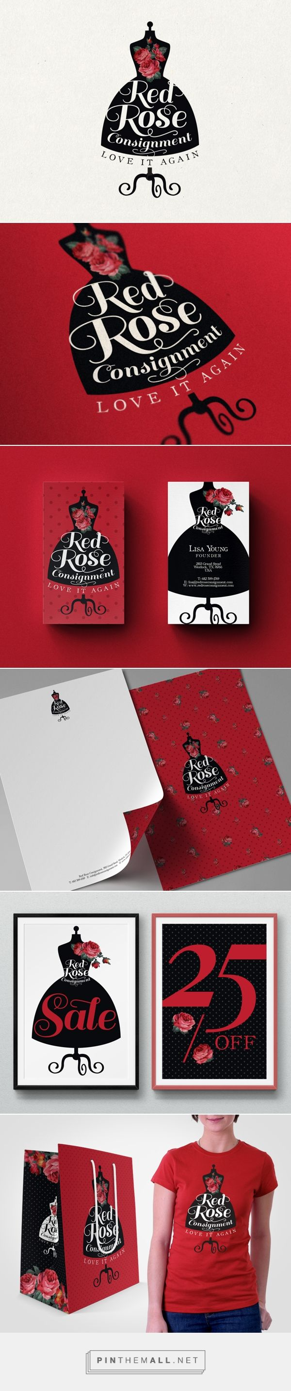 Red Rose Consignment Logo on Behance