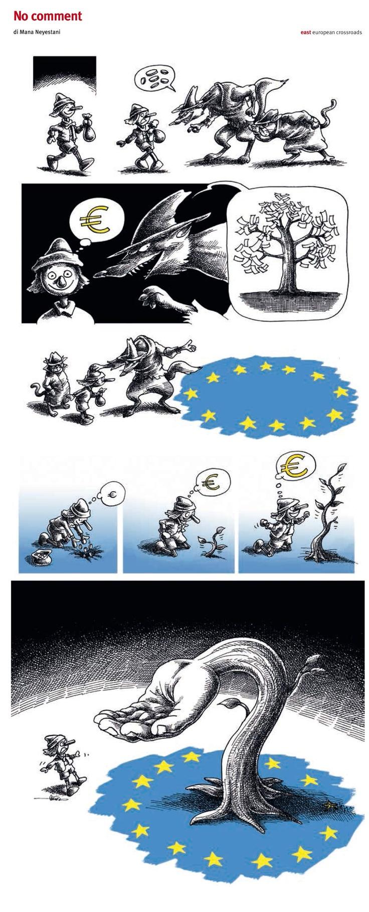 """""""No comment"""" #VersoEastForum2013 Ringraziamo East Rivista Di Geopolitica per la gentile concessione di questa vignetta di Mana Neyestani, pubblicata sul numero 47 di maggio/giugno 2013."""