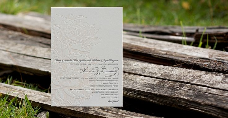 Letterpress wedding invitations and stationery | Deciduous Press