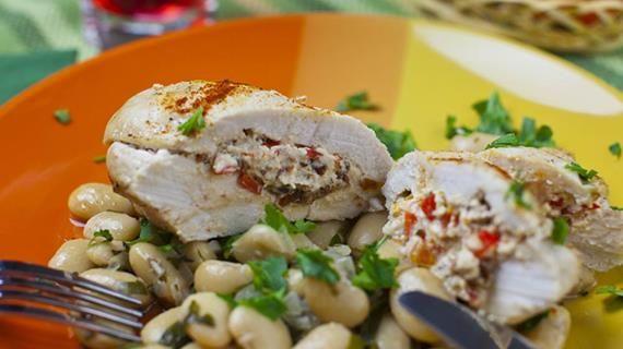 Фаршированная куриная грудка с фасолью, запеченная в конверте. Пошаговый рецепт с фото, удобный поиск рецептов на Gastronom.ru