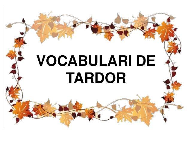 Vocabulari la tardor